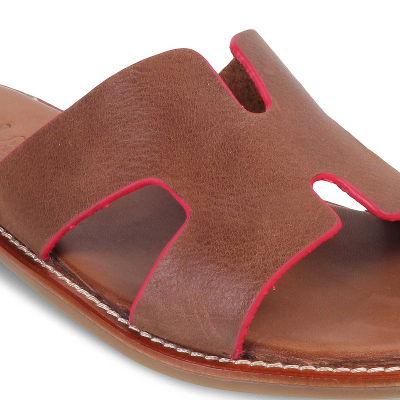 The Kavala Tan - Tan Flats for Women - Tresmode