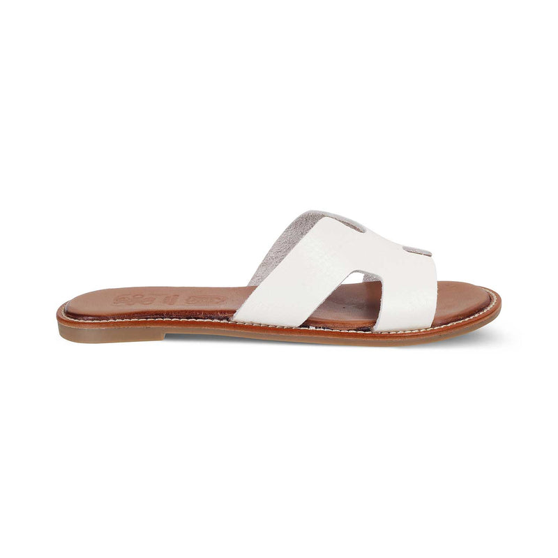 White Flats for Women-The Kavala White-Tresmode