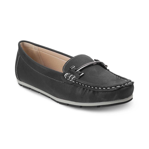 The Knin Black - Black buckle loafers for women - Tresmode