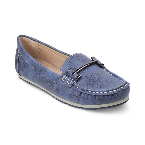The Knin Blue - Blue buckle loafers for women - Tresmode