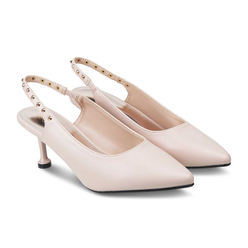 The Modena Pink - Pink Sling Back Pumps for Women - Tresmode