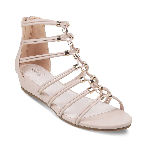 The Mora Beige - Beige Gladiator Sandals for Women - Tresmode