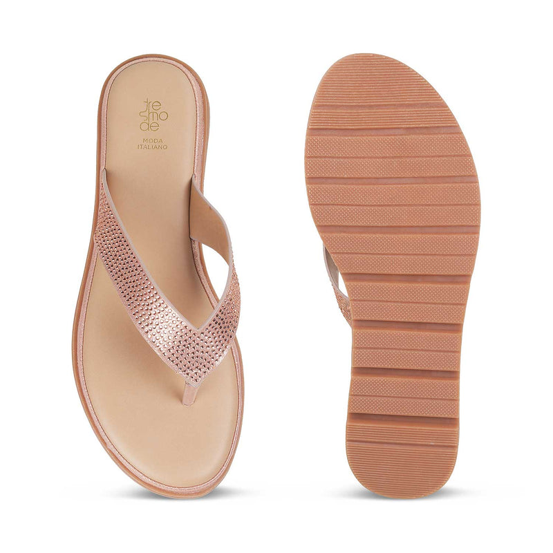 The Taz Rose Gold - Rose Gold Flats for Women - Tresmode