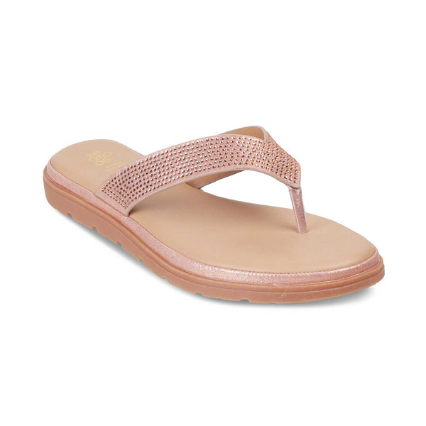 The Taz Rose Gold Flats for Women
