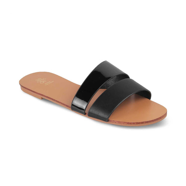 The Pise BlackBlack Flats for Women - Tresmode