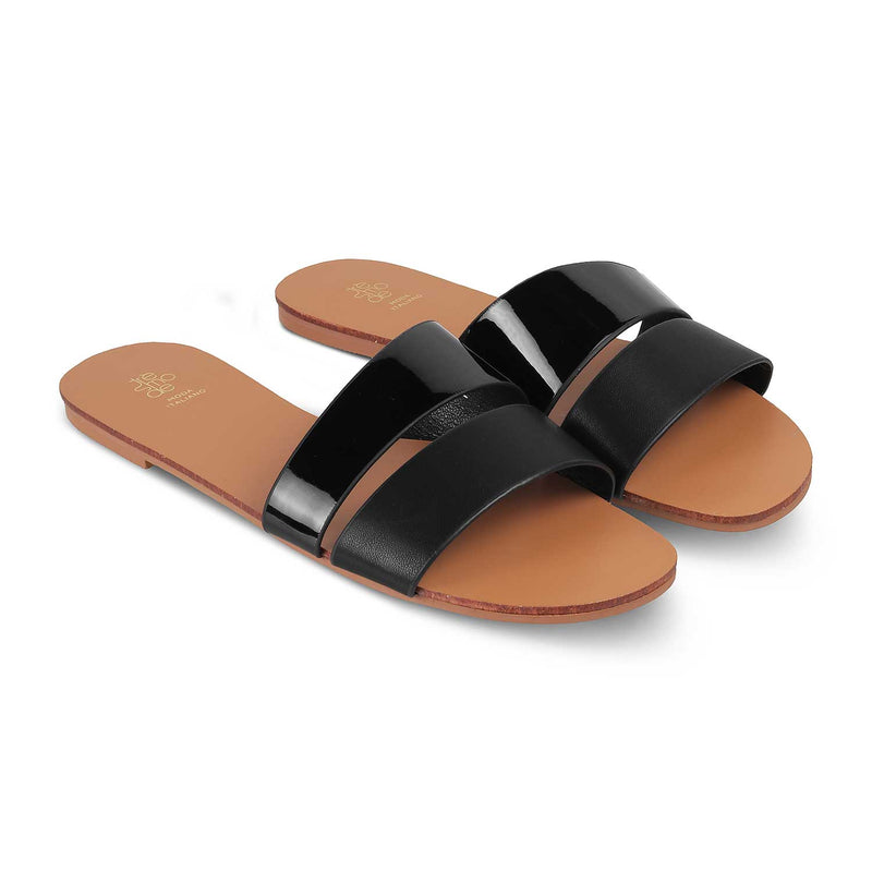 The Pise Black - Black Flats for Women - Tresmode