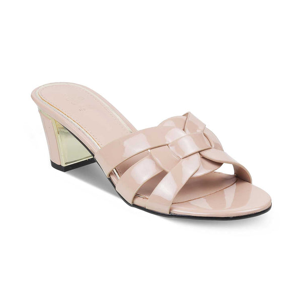 The Port Beige - Beige Block Heel Sandals - Tresmode