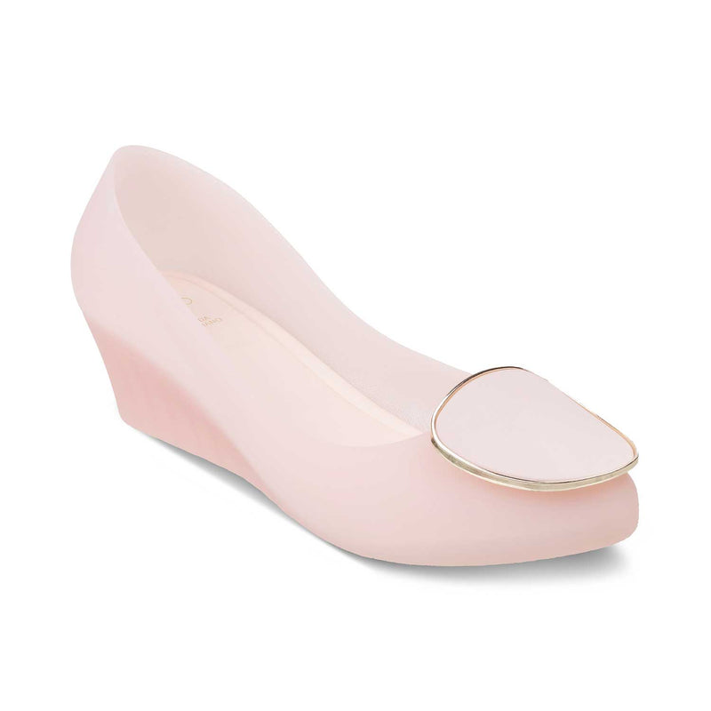 The Rebecka Pink Wedge heel ballerinas