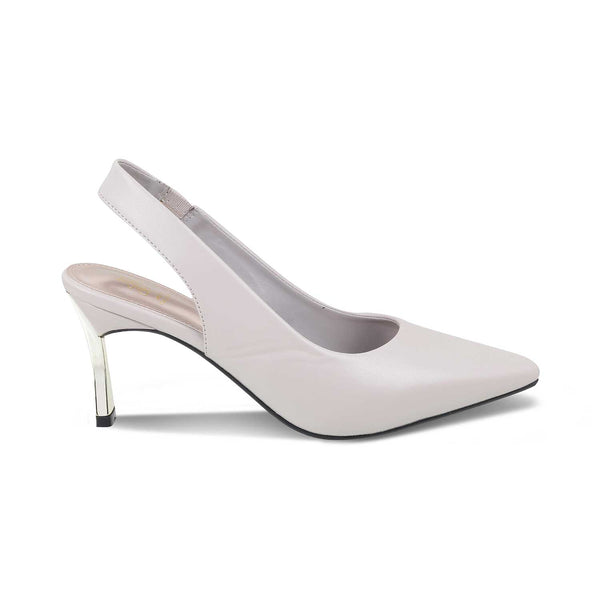 The Reggio Grey - Grey Sling Back Pumps for Women - Tresmode