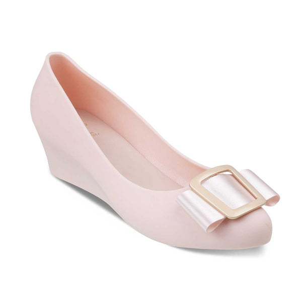 The Rico Pink Wedge heel ballerinas