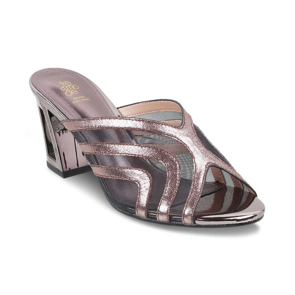 The Rio Pewter - Pewter Block Heel Sandals - Tresmode
