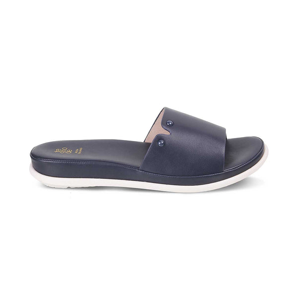 The Siena Blue - Blue Flats for Women - Tresmode