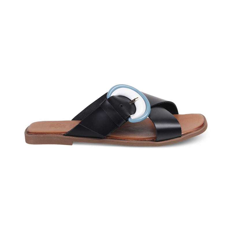 The Sparti Black - Black Flats for Women - Tresmode