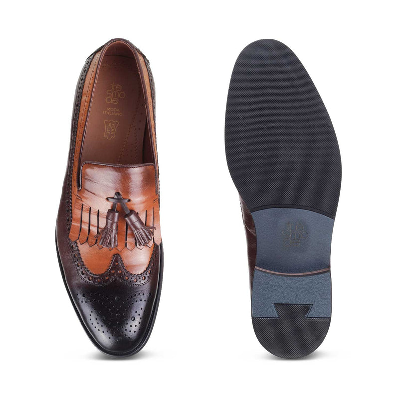The Tanner Tan - Tan Tassel Loafers - Tresmode