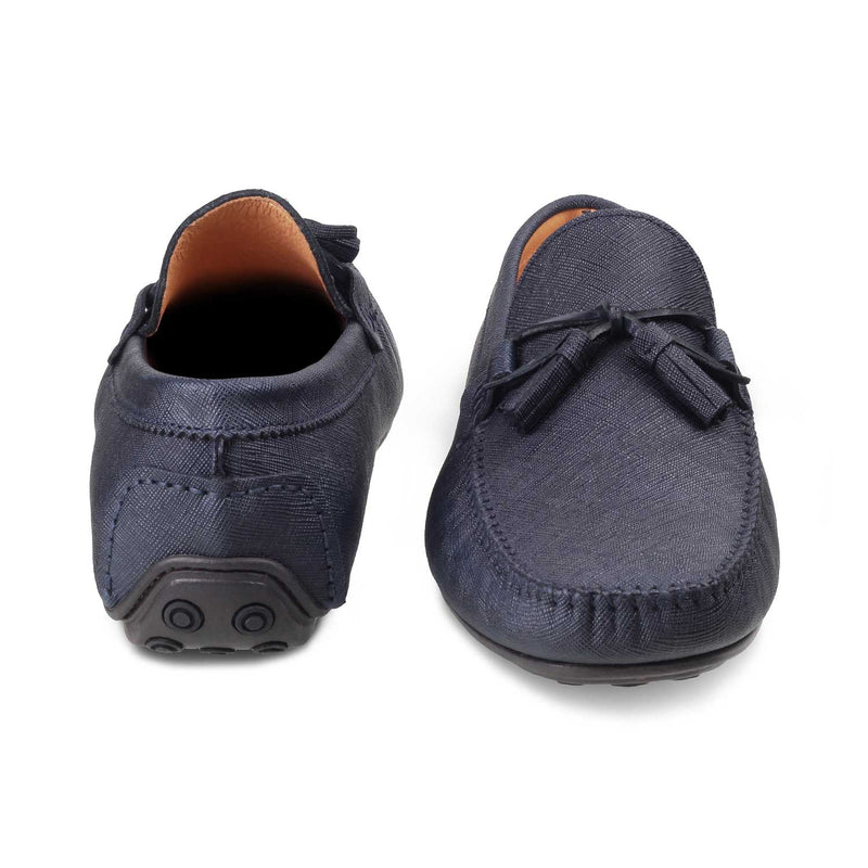 The Tassel Blue - Blue Driving Loafers - Tresmode