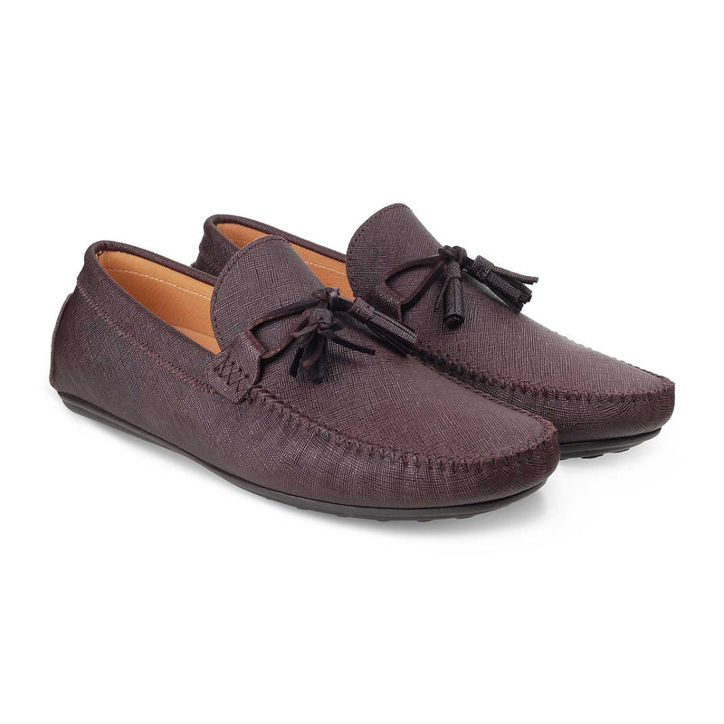 The Tassel Brown Driving Loafers