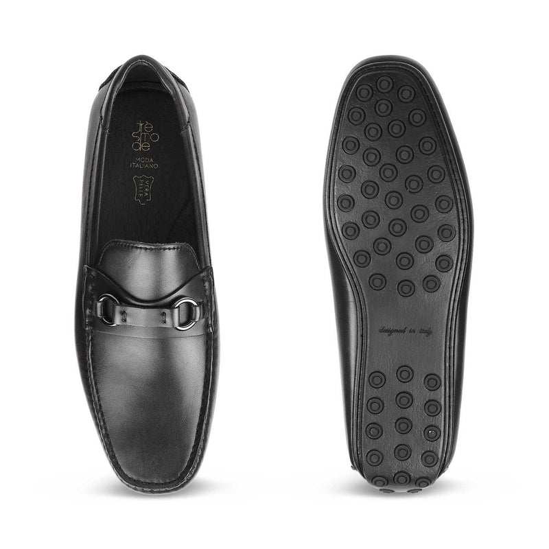 The Tiesto Black Driving Loafers