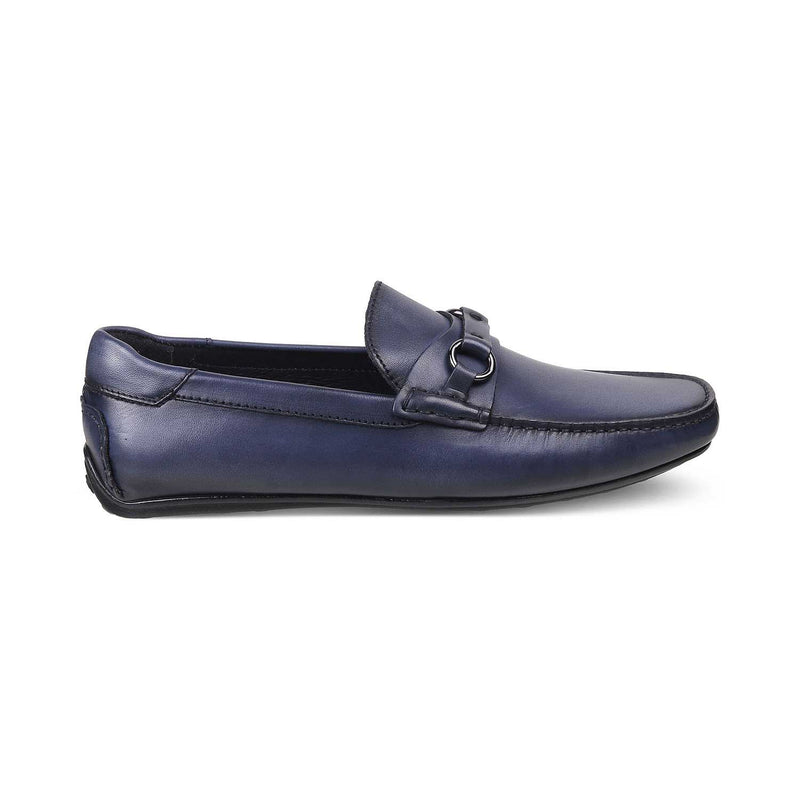 The Tiesto Blue Driving Loafers