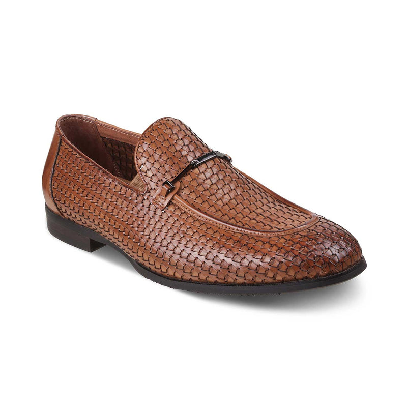 The Trevor Tan - Tan Textured Loafers - Tresmode