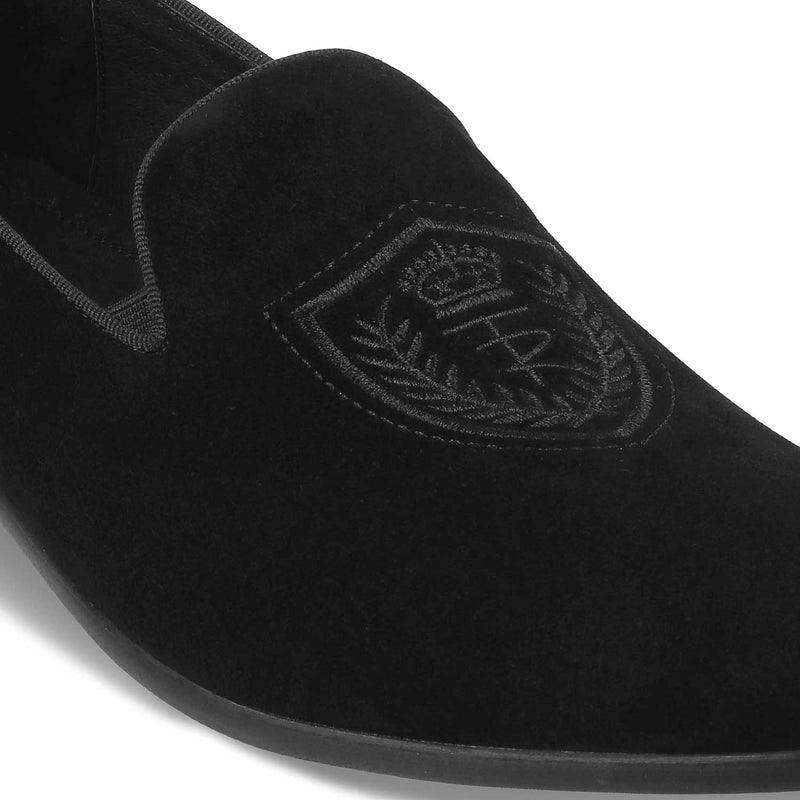 The Trembo Black - Black Suede Loafers - Tresmode