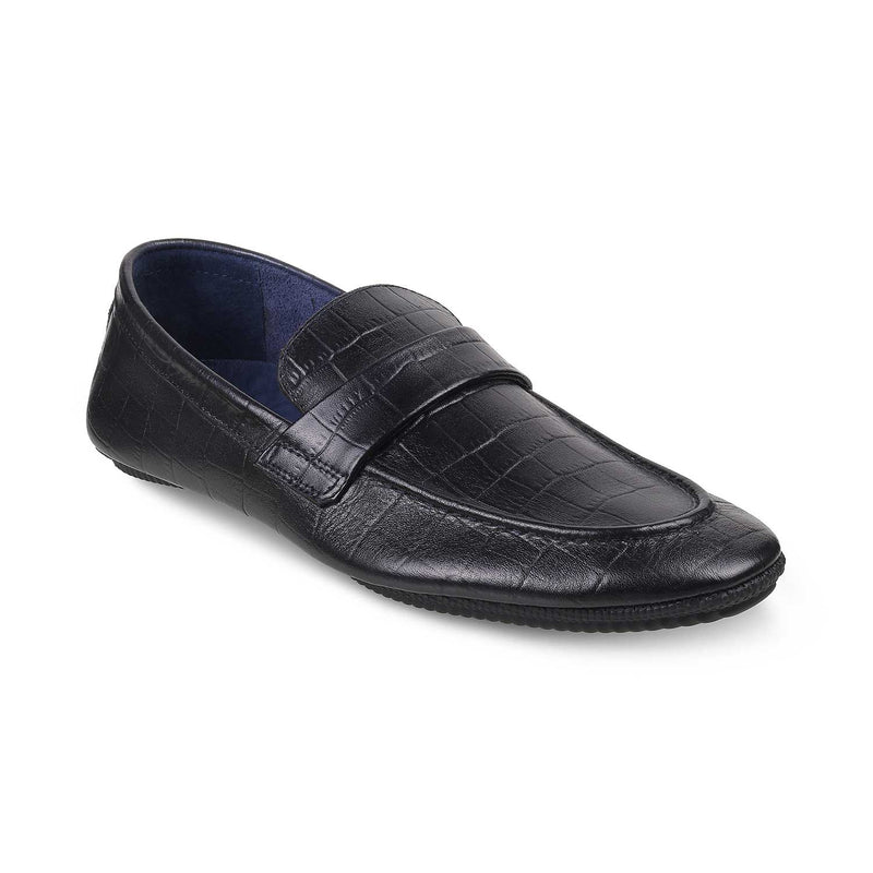 Blue Textured Loafers-The Glen Blue-Tresmode