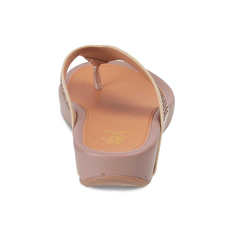 The Trento Gold - Gold Flats for Women - Tresmode