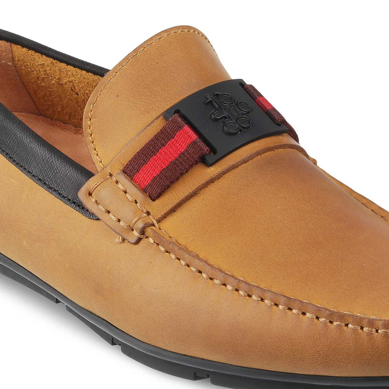 Tan Driving Loafers for Men-The Tres Tan-Tresmode