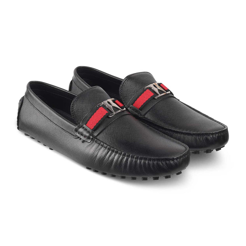 The Trevy Black Driving Loafers for Men