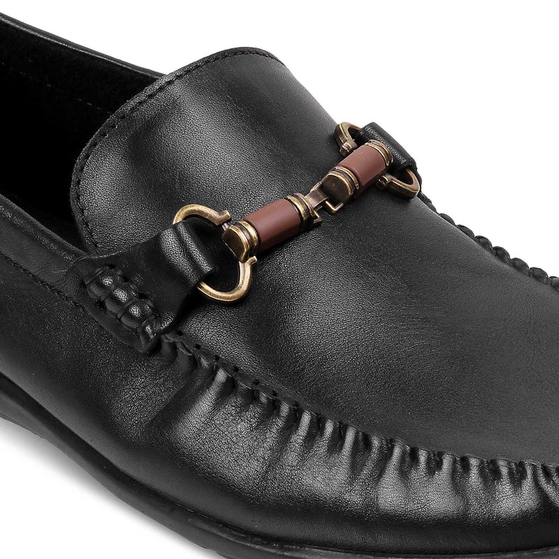 The Bucky Black - Black Loafers for Men - Tresmode