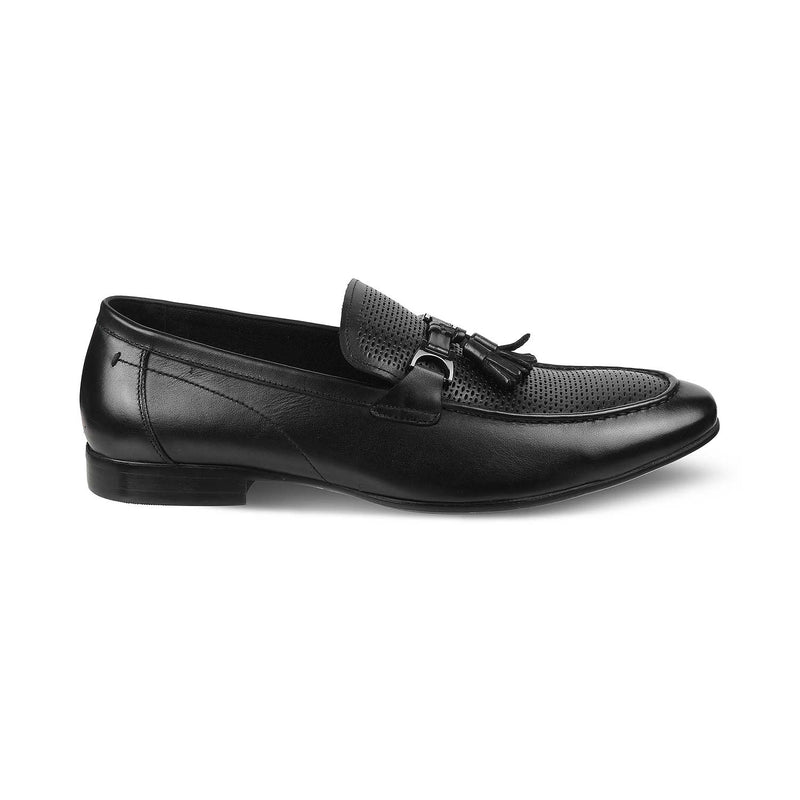 The Winsor Black Tassel Loafers