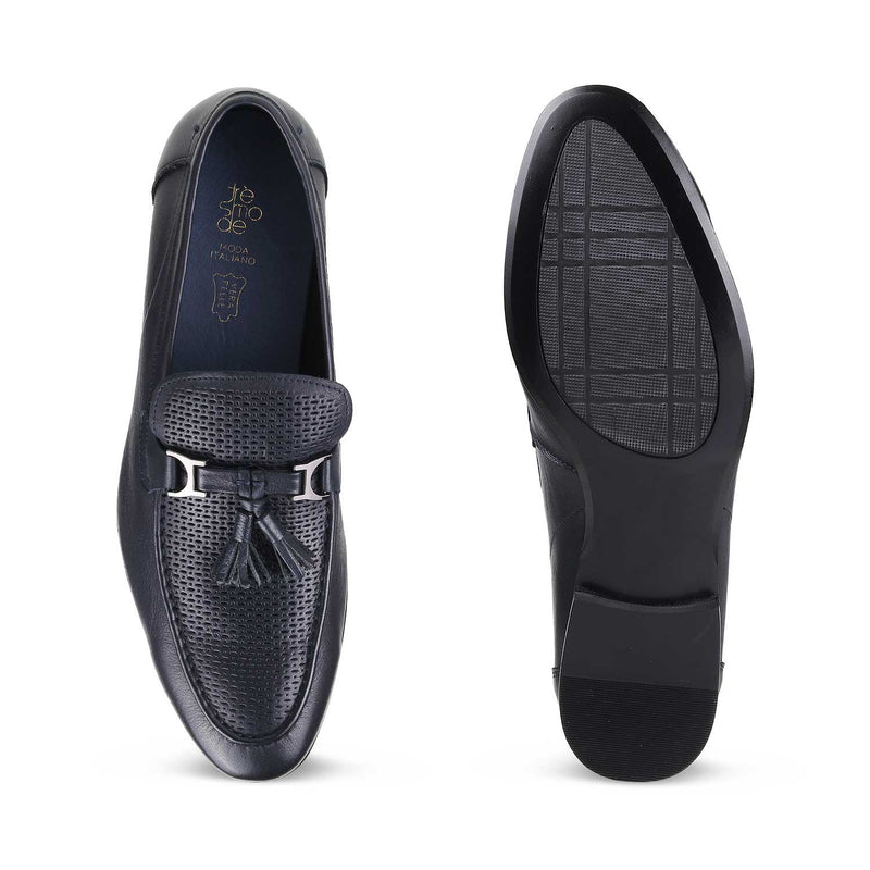 The Winsor Blue - Blue Tassel Loafers - Tresmode