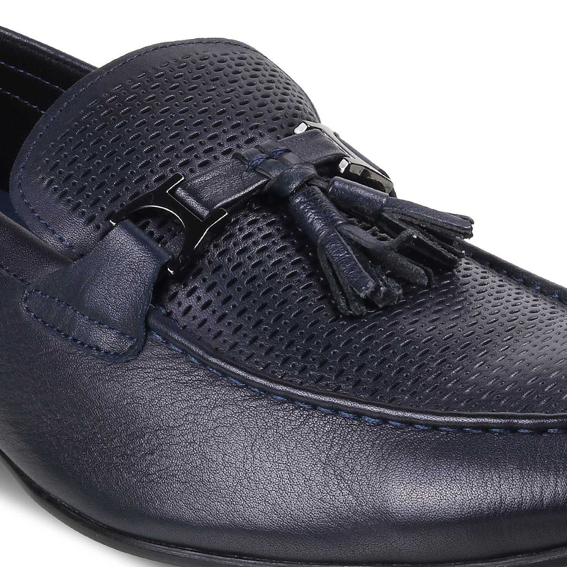 The Winsor BlueBlue Tassel Loafers - Tresmode