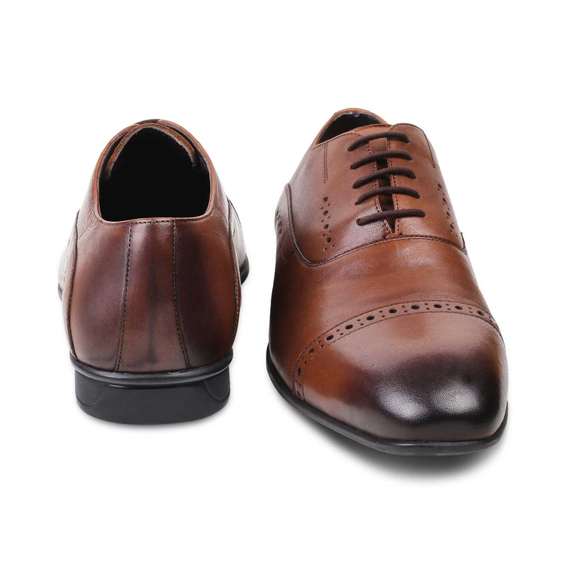 Brown Oxfords for Men-The Gford Brown-Tresmode