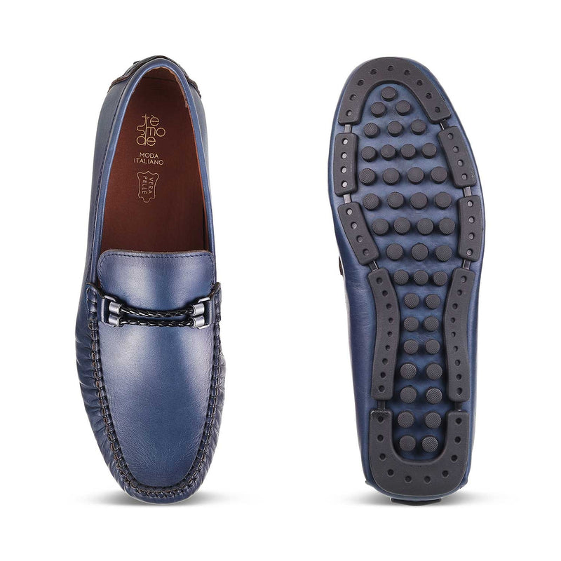The Nimbo Blue Driving Loafers