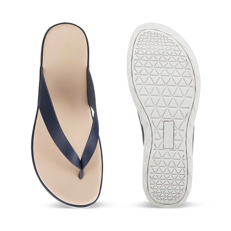 The Olomuc Blue flats for Women