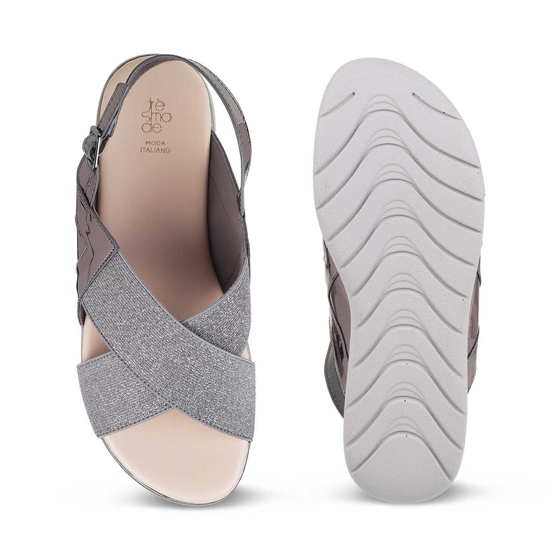 The Pardubice Pewter - Pewter Sandals for Women - Tresmode