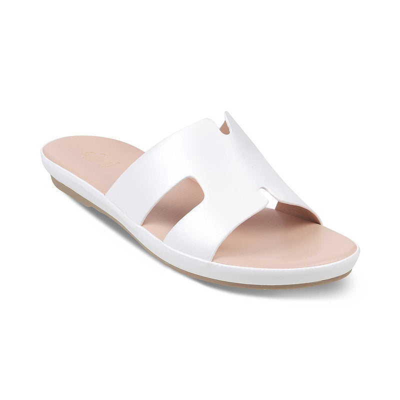 The Pilsen White - White Flats for Women - Tresmode