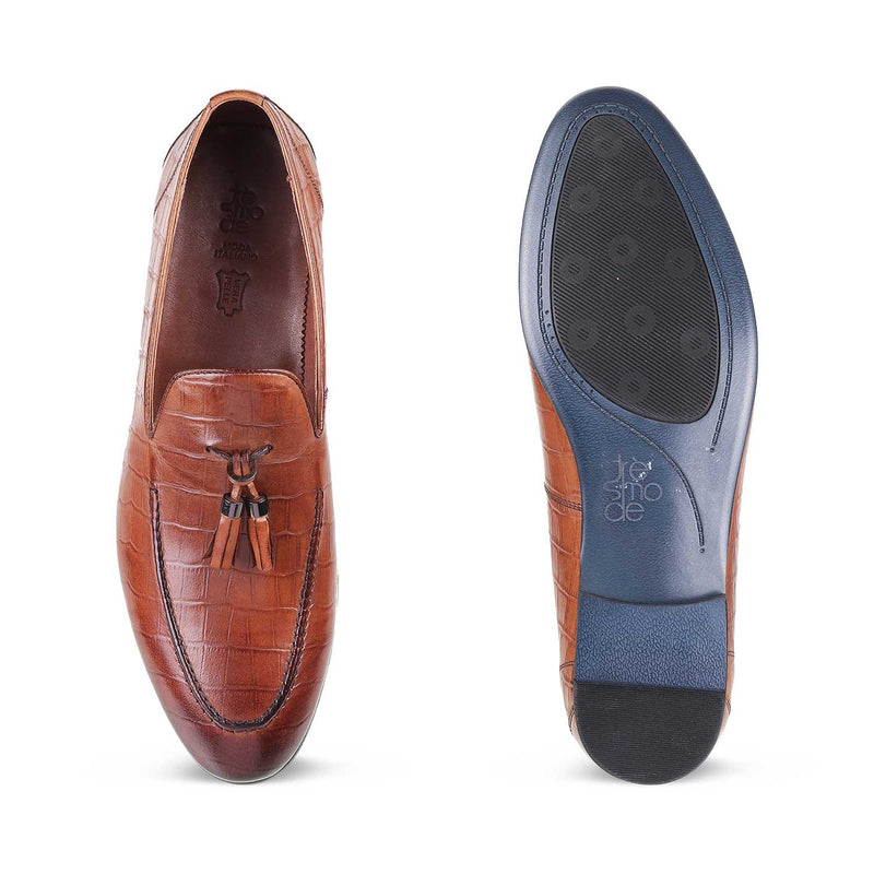 The Tamer Tan tassel loafers for men