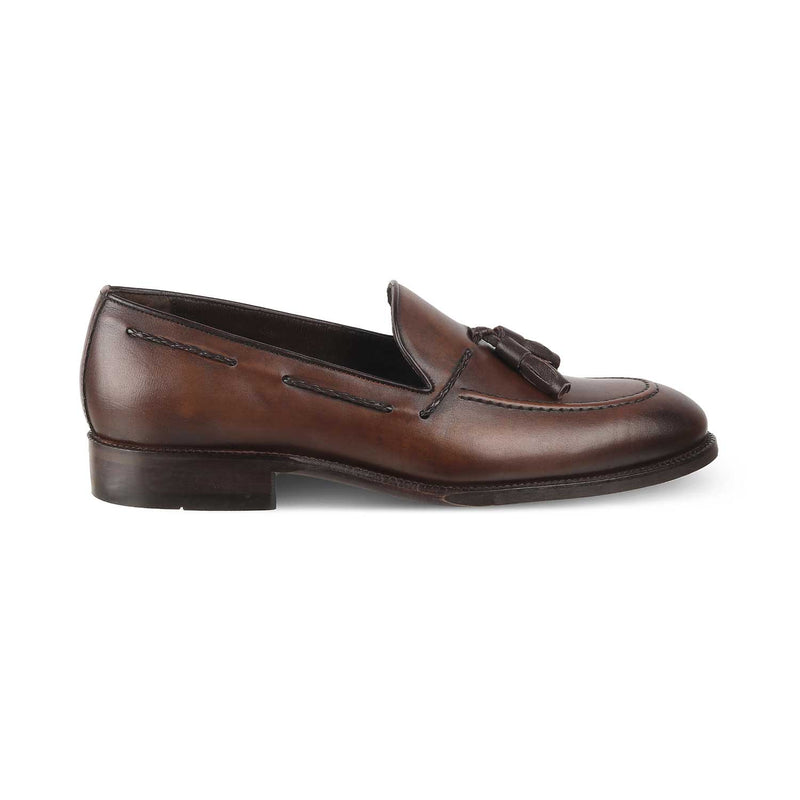Brown Tassel Loafers for Men-The Nino Brown-Tresmode