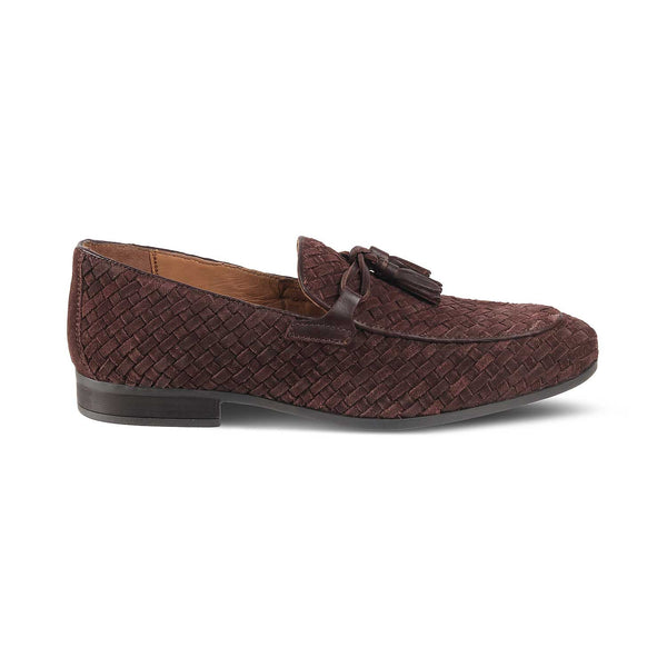 Brown Hand woven Loafers-The Glam Brown-Tresmode