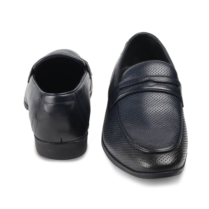 The Roslip Navy loafer shoes for men
