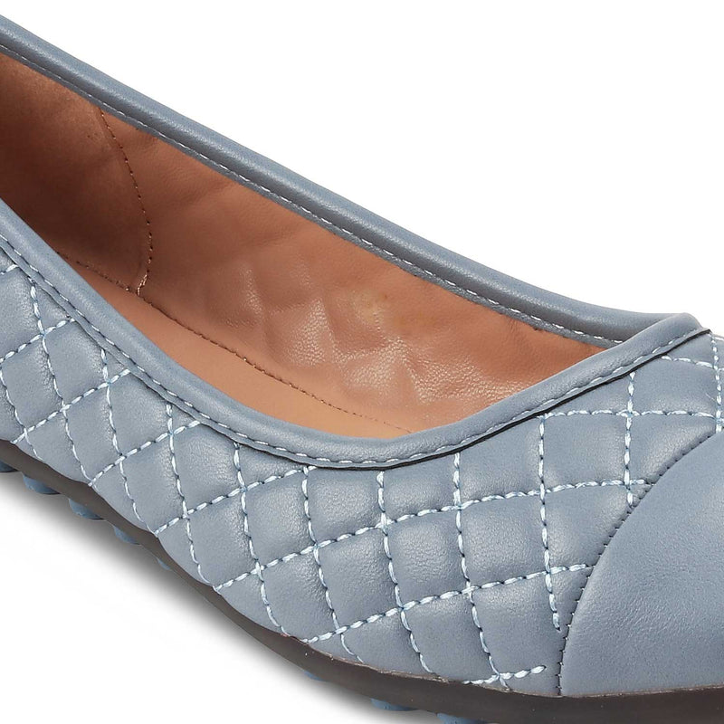 THE VIACENZA BLUE Blue ballerinas for women