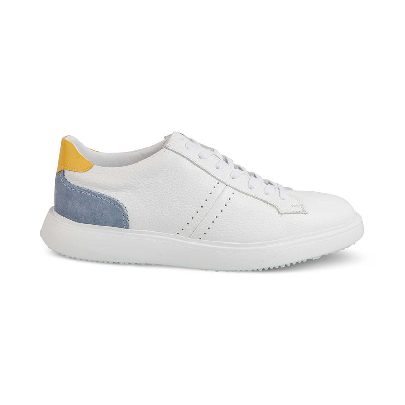 White Sneakers for Men-THE BABILA WHITE-Tresmode