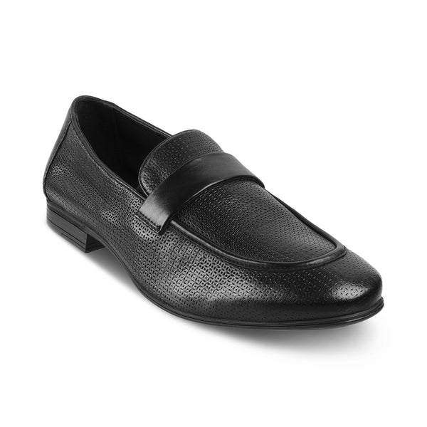 The Brix Black Driving Loafers For Men
