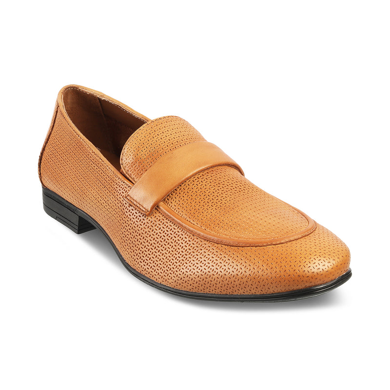 The Brix Tan Driving Loafers For Men