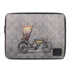THE CYCLE SLEEVE BLACK Printed laptop sleeve