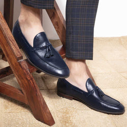 The Giacomo Blue Tassel loafers'