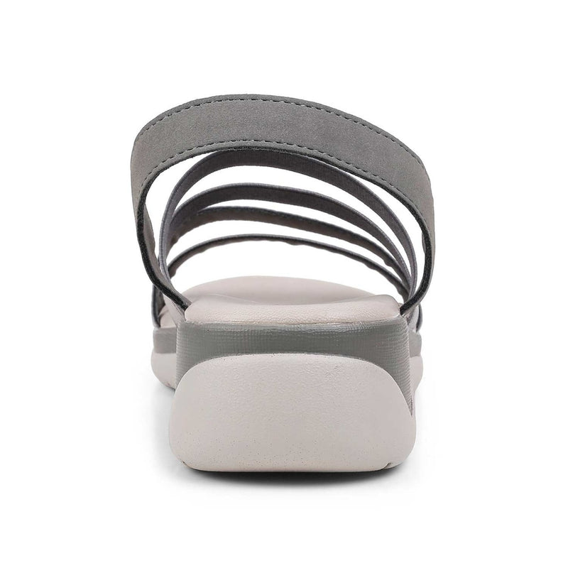 The Athena Pewter Casual Sandals For Women