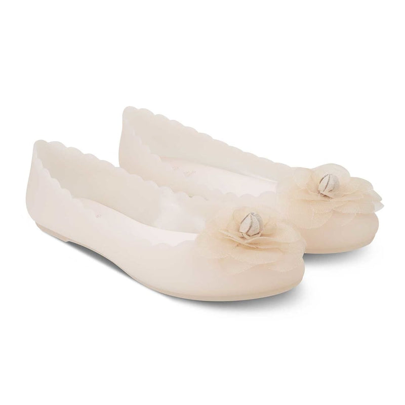 The Brescia Beige Ballerinas for Women