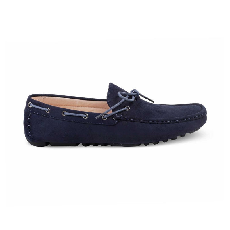 The Demasco Blue Driving Loafers for Men